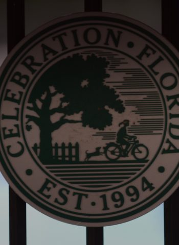 celebration logo on gate